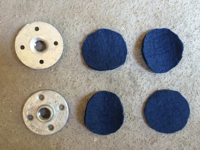 Felt circles | DIY Helmet Rack | Ridewell